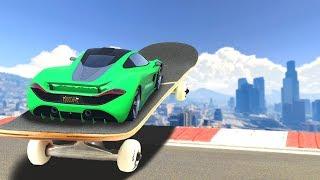 SKATEBOARDING WITH CARS IN GTA 5!