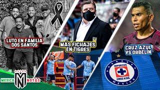 LUTO en la familia DOS SANTOS   Herrera quiere UN REFUERZO MÁS I Cruz Azul se va CONTRA ORBELIN