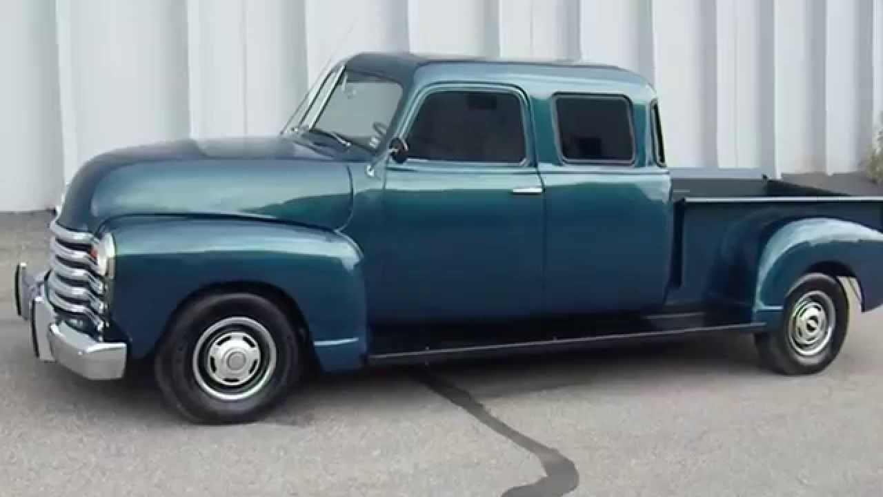 RARE Custom Built 1950 Chevrolet Double Cab Pickup Truck - YouTube