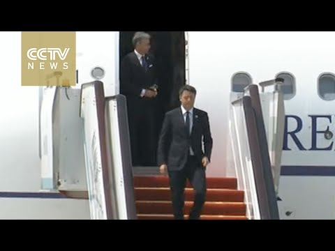 Italian Prime Minister Matteo Renzi arrives in Hangzhou for G20 Summit