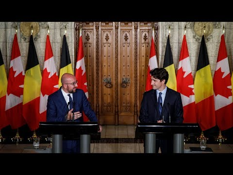 Prime Minister Trudeau delivers remarks on the strong ties between Canada and Belgium