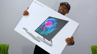 Giant Surface Studio 2 Unboxing + Desk Setup!