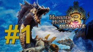 Monster Hunter 3 Ultimate - WiiU - Gameplay #1 - O início da caça!