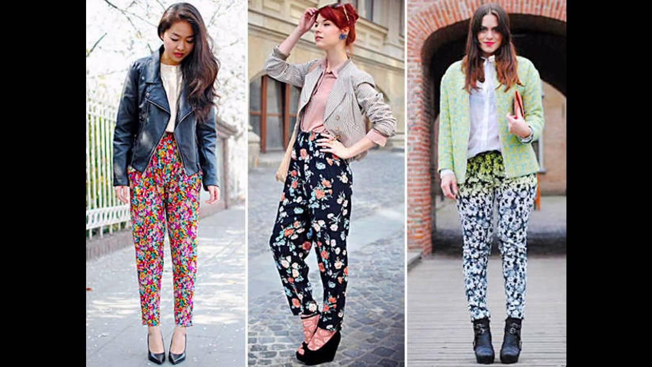 Cómo combinar un pantalón floreado - YouTube