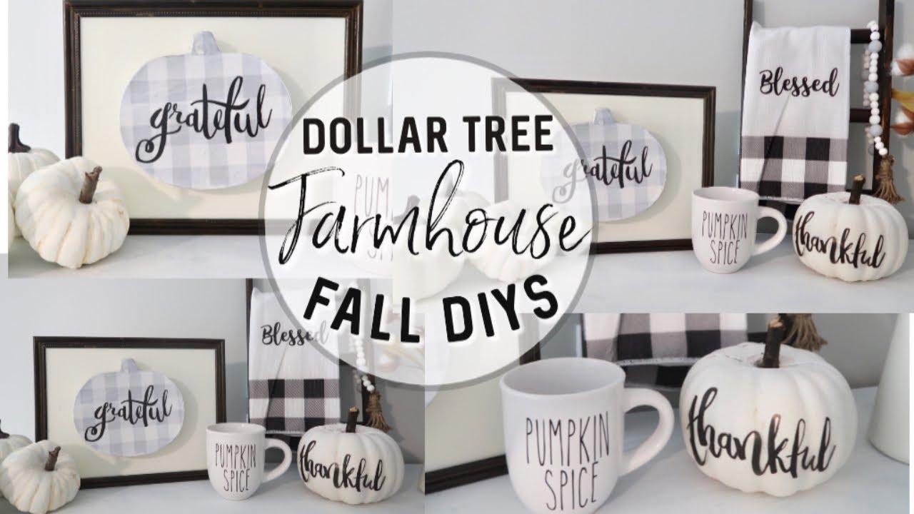 Diy Dollar Tree Fall Decor 2019 Farmhouse Fall Dollar