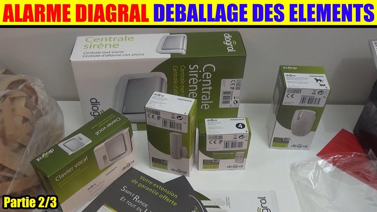 alarme maison diagral a2p gsm sans fil partie 2 deballage youtube. Black Bedroom Furniture Sets. Home Design Ideas