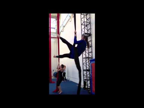 Silks 1A - A few climbs and skills I learned at Toronto School of Circus Arts