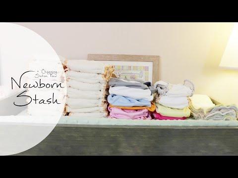 NEWBORN CLOTH STASH + Diaper Changing Station | Cloth Diapering