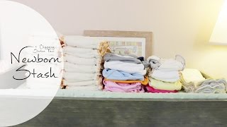 NEWBORN CLOTH STASH + Diaper Changing Station | Cloth Diapering