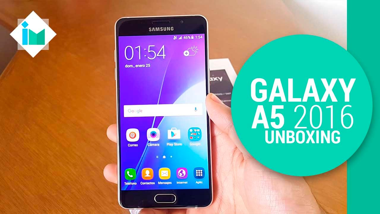 samsung galaxy a5 2016 unboxing en espa ol youtube. Black Bedroom Furniture Sets. Home Design Ideas
