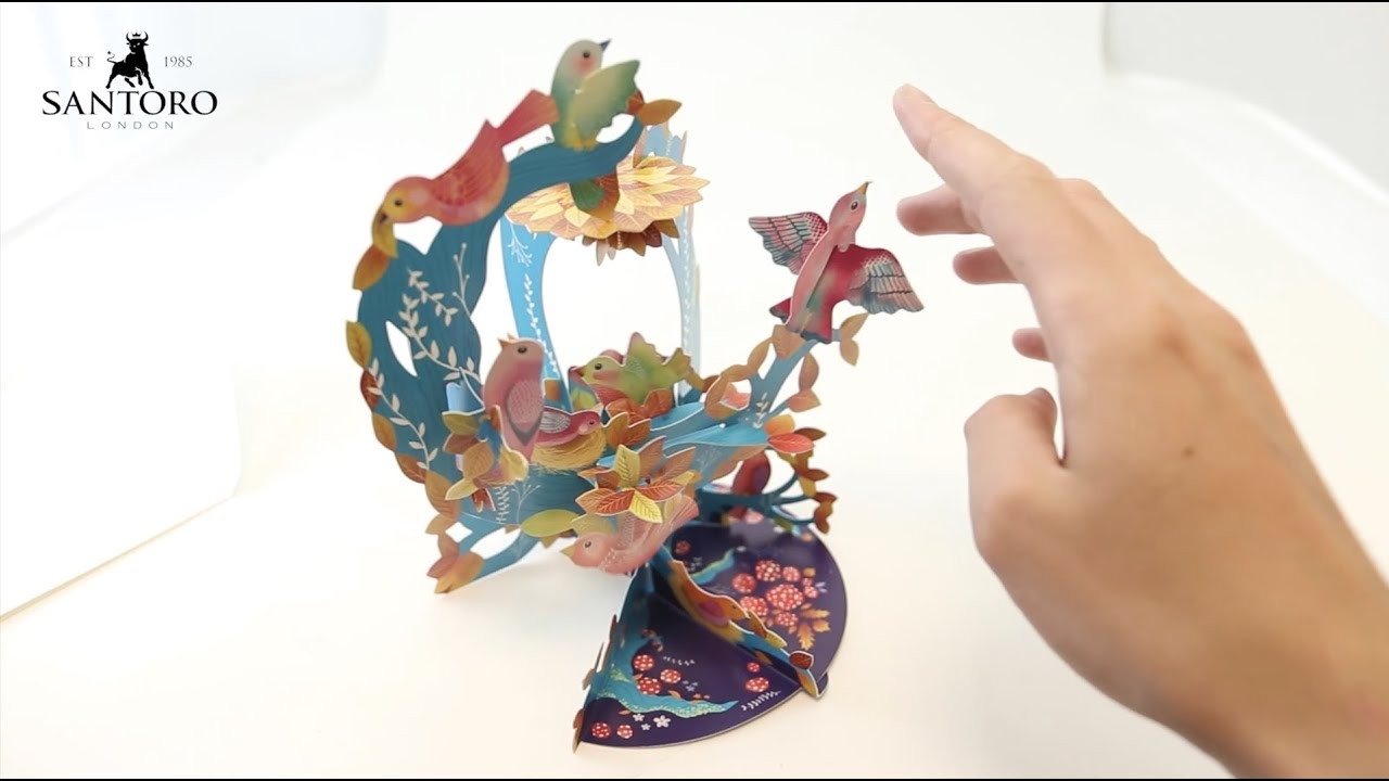 Santoro 3D Pop-Up Pendulum Card - How To
