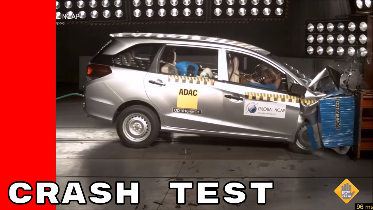Honda Mobilio No Airbags Crash Test Youtube