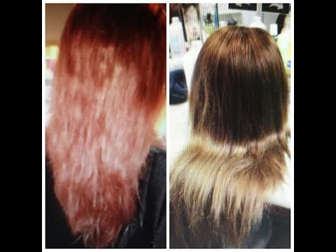 from darkbrownblack to ash blonde how to tone red brassy