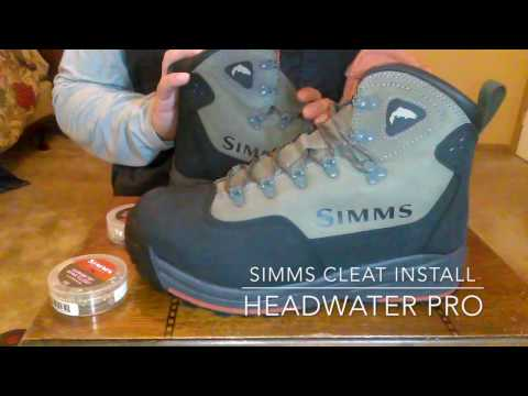 Simms Cleat install - Headwaters Pro boot