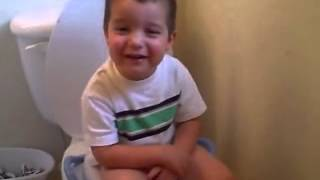 Singing a song on the potty!