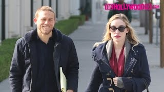 Charlie Hunnam & Morgana McNelis Step Out For An Afernoon Stroll Together Down Melrose Ave. 12.10.16