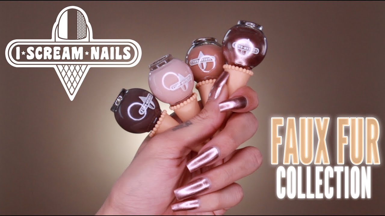 I Scream Nails Faux Fur Collection Review Swatches
