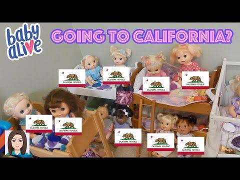 Baby Alives Want To Go To California!