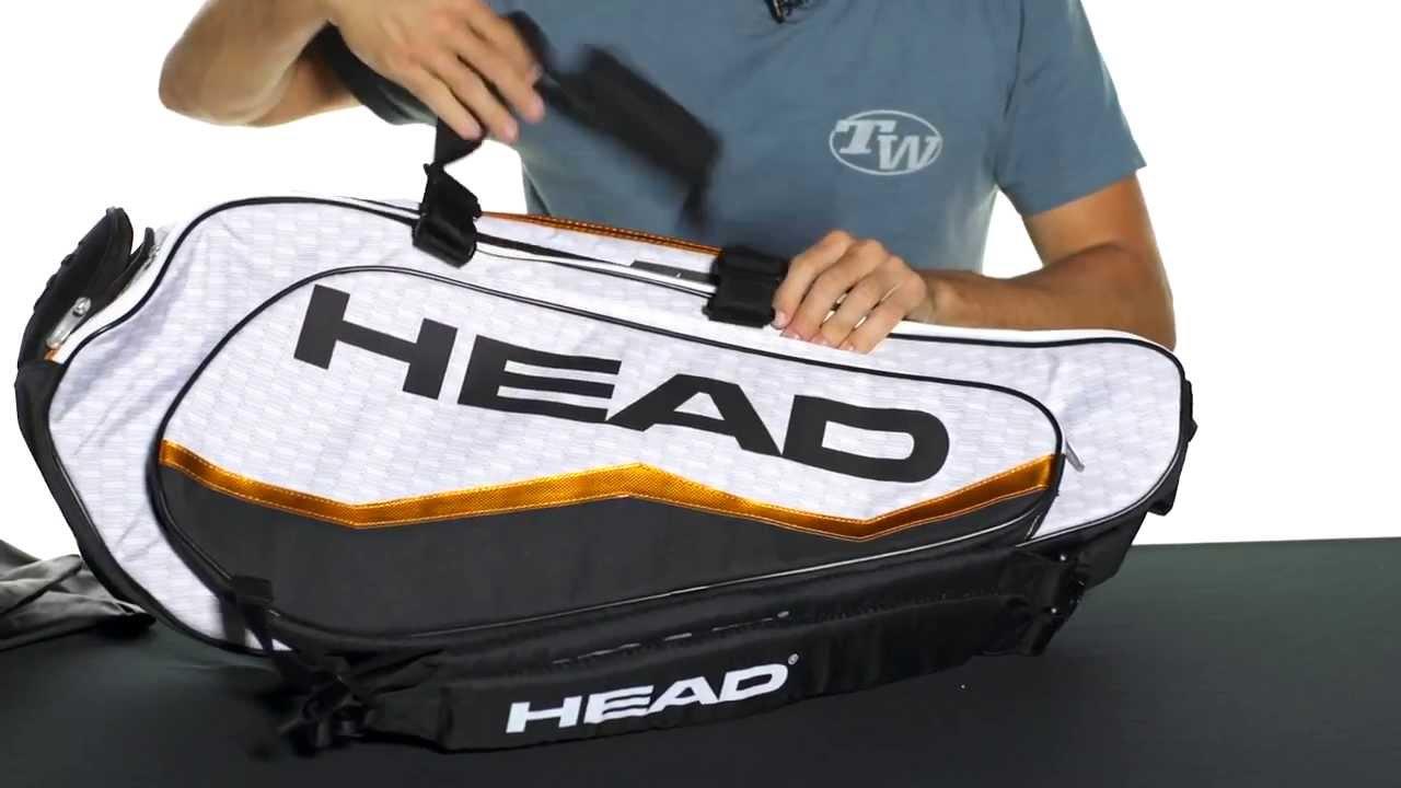 Head Djokovic Combi 6 Pack Tennis Bag Youtube