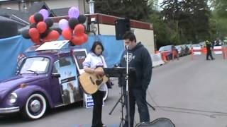 Busking at the 2012 calgary lilac festival