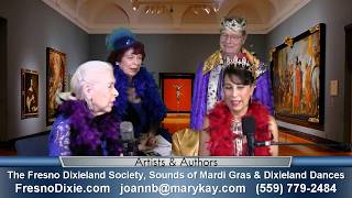 Stephanie D'Angio, Jo Ann Burton & Steve Moore of the Fresno Dixieland Society on Artists & Authors