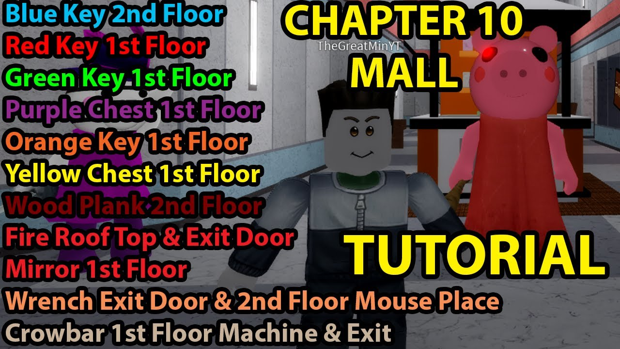 Roblox Piggy How To Escape Chapter 10 Mall Tutorial Ending All Key