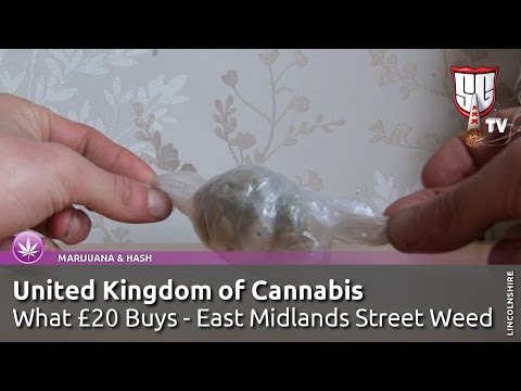 £20 Bag of Cannabis in England; UK East Midlands Street Weed - Smokers Guide TV UK