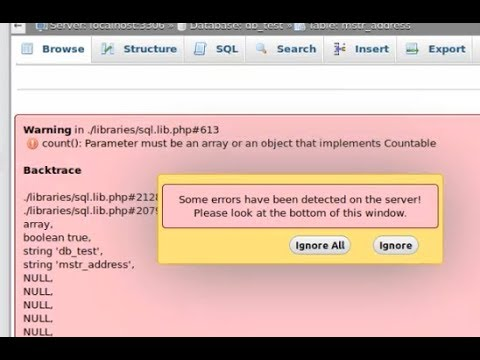 How Fix Phpmyadmin In Ubuntu - Parameter Must Be An Array Or An Object That Implements Countable.