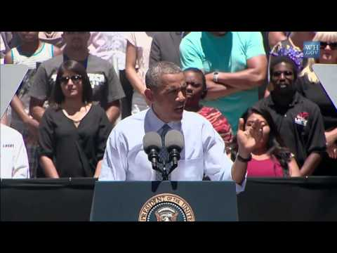Obama Speaks At LA Trade-Technical College - Full Speech