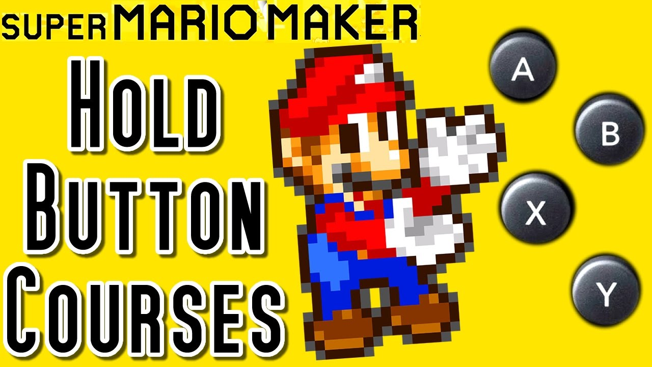 super mario maker top 12 auto hold button courses wii u. Black Bedroom Furniture Sets. Home Design Ideas