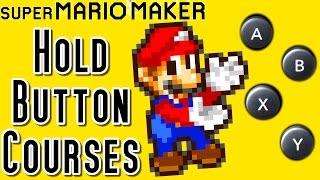 Super Mario Maker TOP 12 AUTO Hold Button Courses (Wii U)