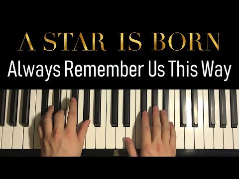 HOW TO PLAY - Lady Gaga - Always Remember Us This Way (Piano Tutorial Lesson)