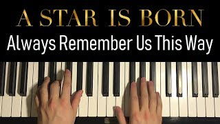 Baixar HOW TO PLAY - Lady Gaga - Always Remember Us This Way (Piano Tutorial Lesson)
