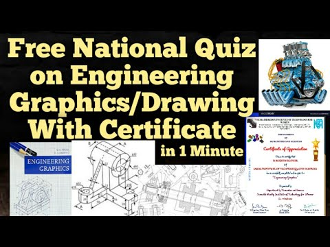Free National Level Quiz on Engineering Drawing with certificate in 1 Minute|ED|Engineering Graphics from YouTube · Duration:  3 minutes 44 seconds