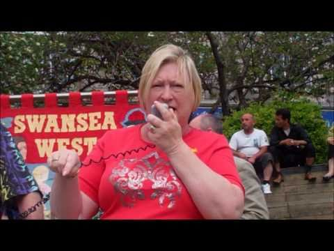 Swansea Trades Council Anti-Cuts March and Rally - A PCS Wales Video