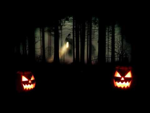 Flickering Jack O Lanterns with Creepy Forest Halloween Sounds