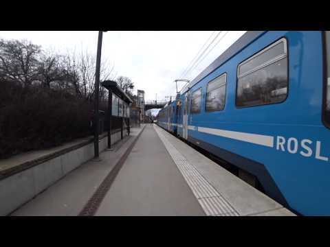 Sweden, train ride with Roslagsbanan from Royal Institute of Technology to Stockholm University