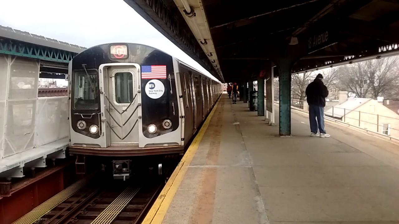 MTA NYC Subway HD: Coney Island bound R160A Full Length G ...