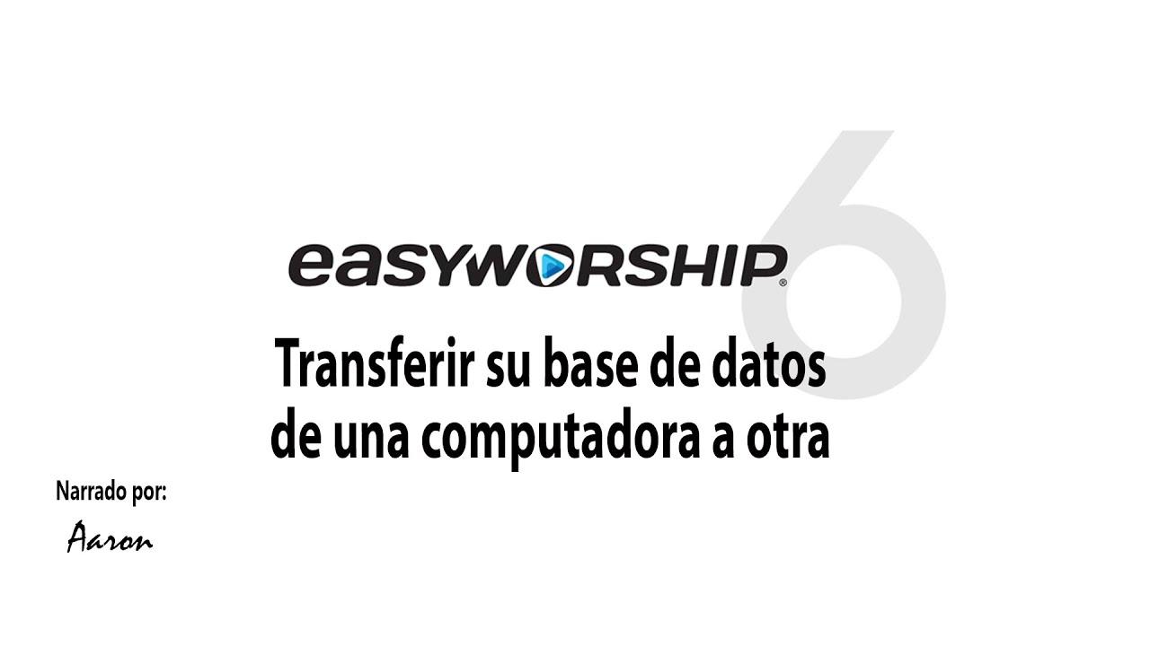 Como transferir su base de datos