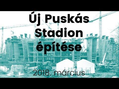 🔴 Új Puskás Stadion építés - 2018. március 🚧👷🚜