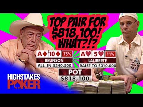 Doyle Brunson MEGA POT Vs Guy Laliberte On High Stakes Poker