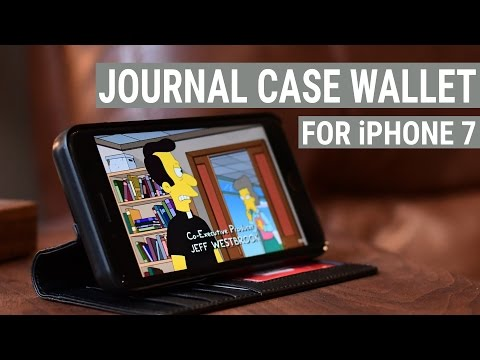 Journal Gives you a Modern Looking Wallet Case for your iPhone 7 from Twelve South