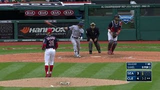 SEA@CLE: Salazar strikes out Gamel swinging in 5th