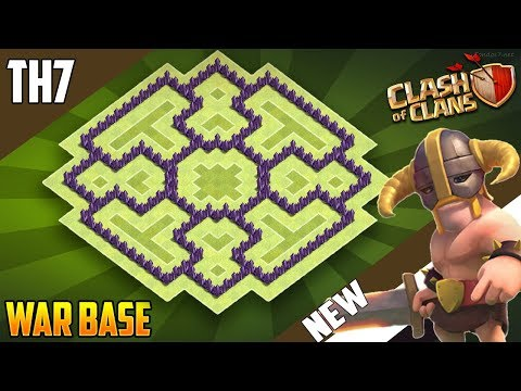 New Best  TH7 WAR/TROPHY[defense] Base 2018!! COC Town Hall 7 War Base Design - Clash of Clans