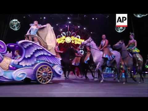 Raw: Final Ringling Bros. Elephants Performance