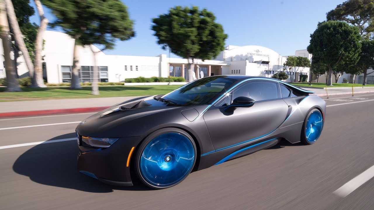 2015 Bmw I8 Klasse Auto Custom Wrap And Wheels Youtube