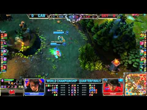 GAB vs SKT T1 Game 1 | Gamania Bears vs SK Telecom T1 Worlds 2013 Quarterfinals Day 2 | S3 D2G1 VOD