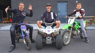 CROSSEN MET MINI QUAD EN MINI CROSSMOTOREN!