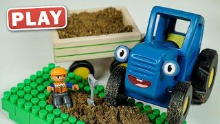 КукуРlay - Синий трактор на стройке - Поиграйка с Викой