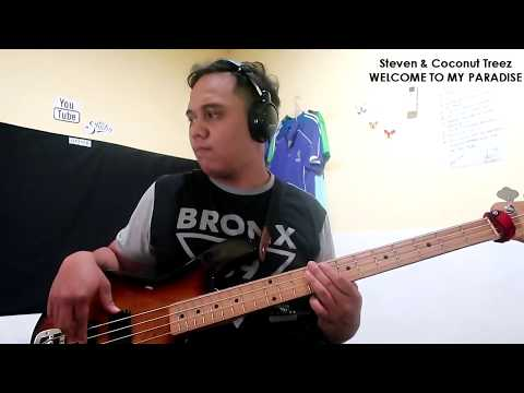 Steven & Coconut Treez  - Welcome To My Paradise (Bass Cover) (JoseaBassCover)